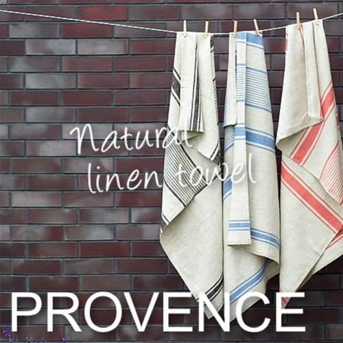リネンミー リネン バスタオル プロヴァンス 爽やかなストライプ柄のリネンバスタオル。