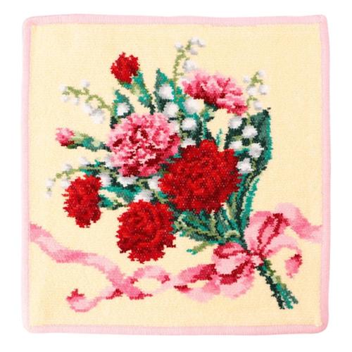 フェイラー ディアフラワーハンカチ 誕生花をブーケにしたフローラルハンカチ